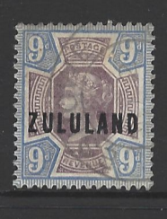 SG Zululand 9, South Africa stamp