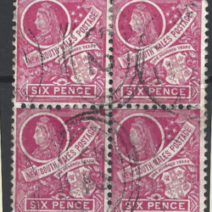 New South Wales. SG 256. Block of 4. Australian States Stamps