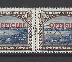 SG 027. Pair. South West Africa Stamps