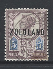 SG Zululand 7. South African Stamp