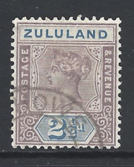 SG Zululand 22. South African Stamp