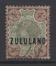 SG Zululand 6. South African Stamp