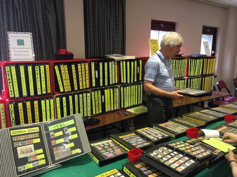 Robin Borwick, Robstine Stamps / Robstine Extra. Potters Bar Stamp Fair, 26/05/2019
