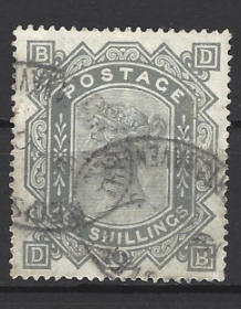 1867-83, SG 135, the QV 10 shillings on white paper, good/fine used