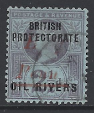 Oil Rivers, SG 21 with Cert. Nigeria Stamps