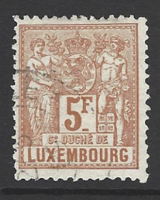 SG 92, perf 13.5, Luxembourg