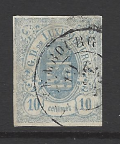 SG 10, pale blue, Luxembourg