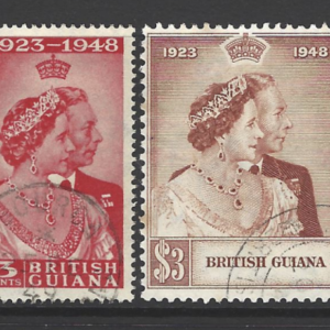 British Guiana SG 322-323, Royal Silver Wedding, King George VI,