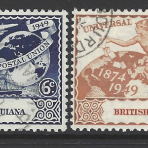 British Guiana SG 324-327, Universal Postal Union, King George VI,