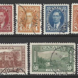 Canada SG 357-367, King George VI, Fine Used