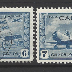 Canada SG 399-400 1942-1943 Air Stamps, Fine Used