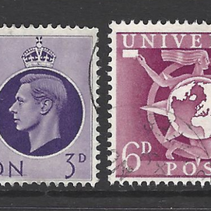 Great Britain SG 499-502, Universal Postal Union, KGVI, Fine Used