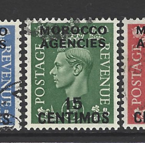 Morocco Agencies SG 182-186, King George VI Fine Used