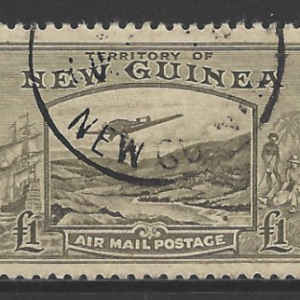 NEW GUINEA 1939 SG225 £1 Air Stamp, Fine Used