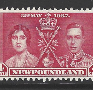 Canada-Newfoundland SG 254-256, 1937 King George VI Coronation, Fine Used