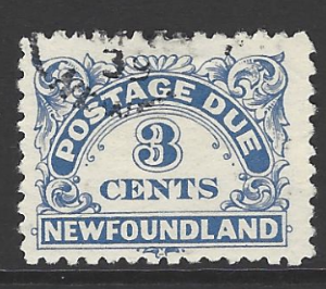Canada-Newfoundland SG D3, 1939 Post Due, Fine Used