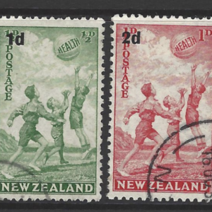 New Zealand SG 611-612, 1939 Health Stamps, Fine Used