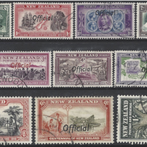 New Zealand SG 0141-0151, 1940 Official fine used set