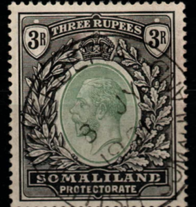 Somaliland. SG 84, the 1921 KG5 3 rupees, fine used.