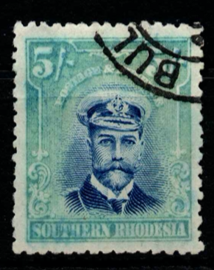 Southern Rhodesia. SG 14, the 1924-29 Admiral type 5 shillings, fine used.