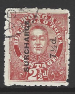 Tonga, SG 31, the 1895 King George II 7.5d on 2.5d, fine used,