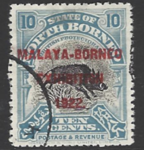North Borneo, SG 263, the 1922 Malaya-Borneo Exhibition 10c, fine used,