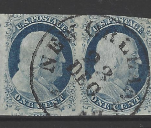 USA, SG 8 pair, Fine Used,