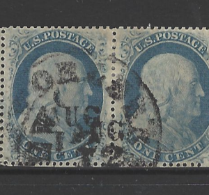 USA, SG 26b pair, Fine Used,