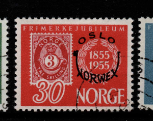 Norway, SG 455-457, Fine Used,