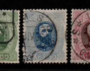 Norway, SG 68-70, Fine Used,
