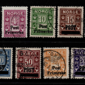 Norway, SG 204-212, Fine Used,