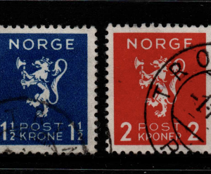 Norway, SG 271-274, Fine Used,