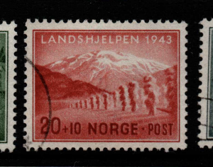 Norway, SG 357-359, Fine Used,