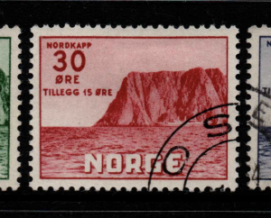 Norway, SG 442-444, Fine Used,