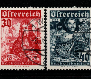Austria SG 706-711, the 1933 Relief of Vienna set, fine used