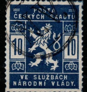 Czechoslovakia. SG 1, the 1918 Scouts issue 10h, fine used stamp