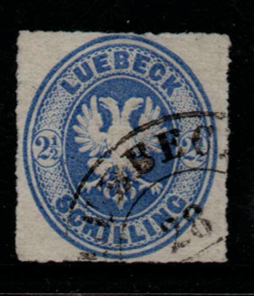 German State-Lubeck, SG 16, Fine Used,