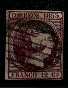 Spain, SG 23a, Fine Used,