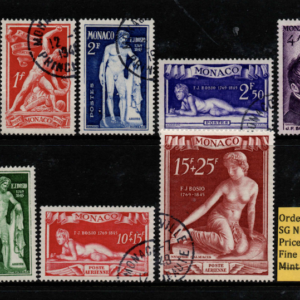 Monaco Stamps, SG 352-360, fine used stamps,