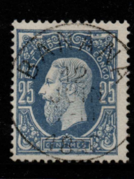 Belgian Congo SG 3 Fine Used Stamps, Belgian Congo Fine Used Stamps,