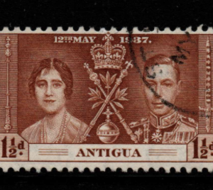 Antigua SG 95-97 Fine Used Stamps, Antigua Fine Used Stamps, KGVI 1937 Coronation Set,