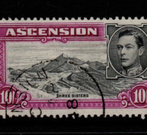 Ascension Islands SG 47b Fine Used Stamps, Ascension Islands Fine Used Stamps, King George VI,