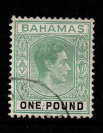 Bahamas SG 157b Fine Used Stamps, Bahamas Fine Used Stamps,