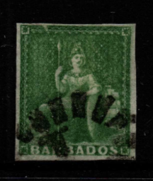 Barbados SG 1 Fine Used Stamps, Barbados Fine Used Stamps