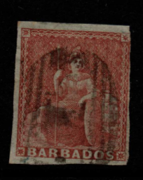 Barbados SG 5 Fine Used Stamps, Barbados Fine Used Stamps,