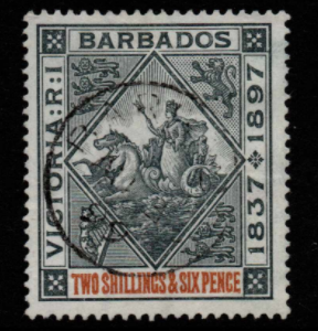 Barbados SG 124 Fine Used Stamps, Barbados Fine Used Stamps,