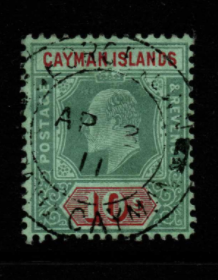 Cayman Islands SG 34 fine used