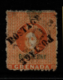 Grenada SG 29a unsevered pair fine used