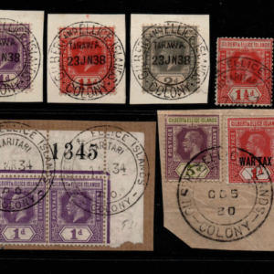 Gilbert and Ellice 9 stamp selection fine used