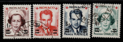 Monaco singles from MS458 fine used